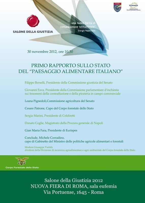 """Primo Rapporto sullo stato del """"paesaggio alimentare italiano"""""""