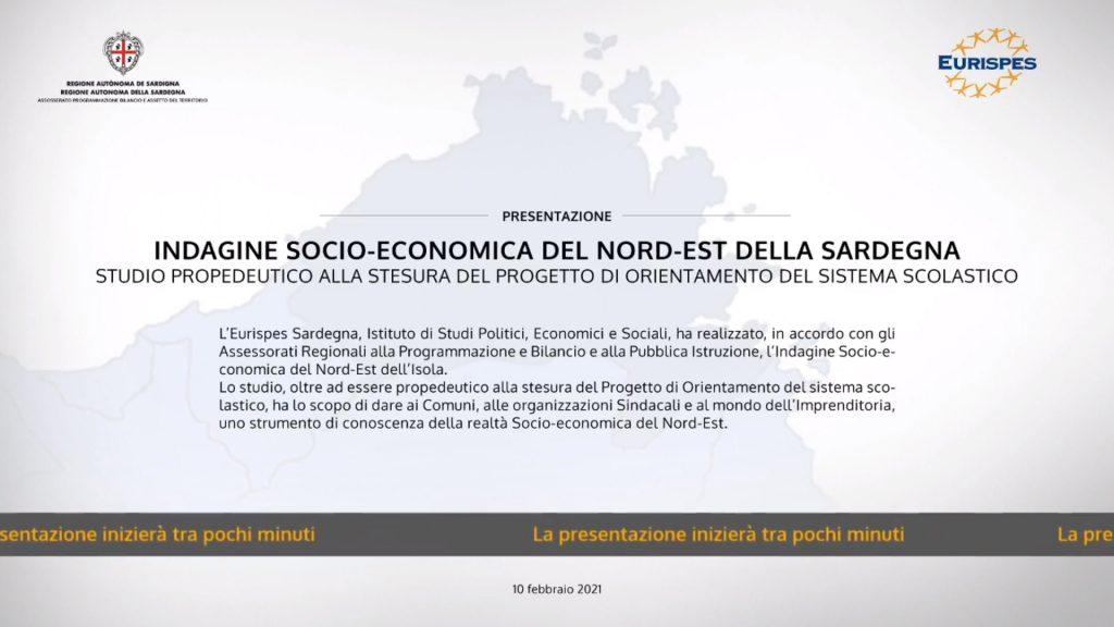 Locandina Webinar Indagine socio economica Sardegna